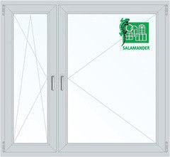 Окно ПВХ Окно ПВХ Salamander 1460*1400 1К-СП, 4К-П, П/О+П