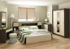 Спальня Настоящая мебель Бася Венге / беленый дуб