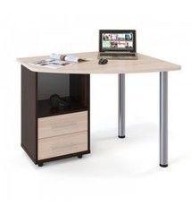 Письменный стол Сокол-Мебель КСТ-102Л (левый,венге/беленый дуб)