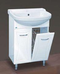 Мебель для ванной комнаты MISTY Тумба с раковиной Классик 55 (с корзиной)