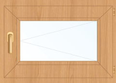 Деревянное окно Ольха для бани, 400*300