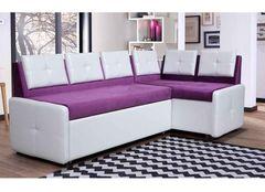 Кухонный уголок, диван ZMF Оскар (бело-фиолетовый)