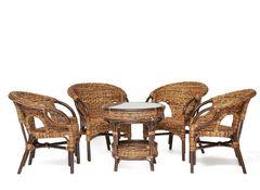 Комплект мебели из ротанга Мир ротанга Mandalena (4 кресла и стол)