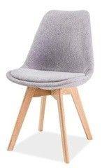 Кухонный стул Signal Dior (дуб/светло-серый)