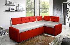 Кухонный уголок, диван ZMF Оскар (бело-красный)