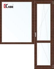 Окно ПВХ Окно ПВХ KBE Окно ПВХ 1860*2160 2К-СП, 5К-П, Г+П/О ламинированное (темное дерево)