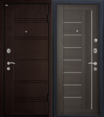 Входная дверь Входная дверь МеталЮр М17 (грей мелинга, матовое стекло)