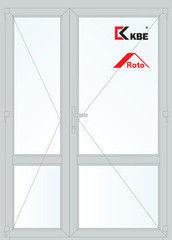 Дверь ПВХ Дверь ПВХ KBE 1500*2100 двустворчатая  Модель 95