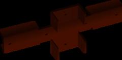 Забор Забор Скайпрофиль Кронштейн крестообразный с полимерным покрытием RAL8017