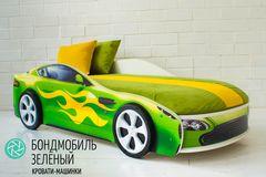 Детская кровать Детская кровать Бельмарко Бондмобиль зеленый