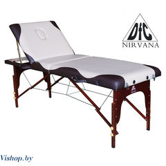 Мебель для салонов красоты DFC Массажный стол NIRVANA Relax Pro бежевый с коричневым