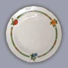 Cesky Porcelan Тарелка десертная флажная Rokoko Слоновая кость 10009/S1011 (19см)