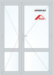 Дверь ПВХ Дверь ПВХ Proplex 1500*2100 двустворчатая Модель 13