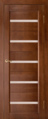 Межкомнатная дверь Межкомнатная дверь из массива Вилейка Вега 5 ЧО, темный орех