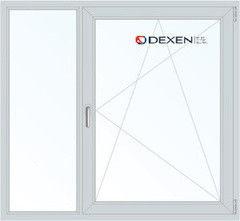 Окно ПВХ Окно ПВХ Dexen 1460*1400 2К-СП, 4К-П, Г+П/О