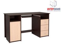 Письменный стол Интерлиния СК-007 Дуб венге+Дуб молочный