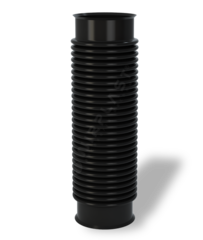 Кровельная вентиляция WIRPLAST Переходник гибкий D-110 мм, L-400 мм черный U33