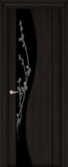 Межкомнатная дверь Межкомнатная дверь Юркас Самурай ДО (черный шелк, черный триплекс) ПВХ