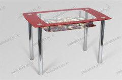 Обеденный стол Обеденный стол Стеклолюкс С 28-12 Розы-2
