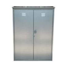 Шкаф металлический Декарт для газовых баллонов на 2 баллона 50 л.