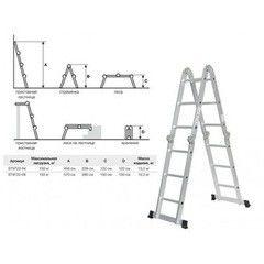 Лестница Startul ST9722-05 многофункциональная (шарнирная)