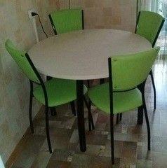 Обеденный стол Обеденный стол Мебельный конструктор Круглый (пластик)