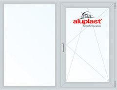 Окно ПВХ Aluplast 1750*1400 2К-СП, 5К-П, Г+П/О