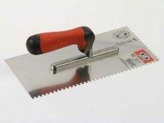 OLEJNIK Гладилка для гипса с двухкомпонентной ручкой 280х130 мм (127128E4-2KO) зуб 4х4