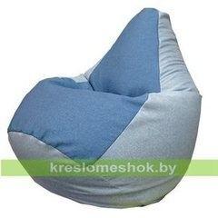 Бескаркасное кресло Бескаркасное кресло Kreslomeshok.by Груша Джинс-2