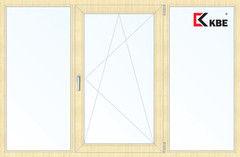 Окно ПВХ Окно ПВХ KBE 2060*1420 2К-СП, 5К-П, Г+П/О+Г ламинированное (светлое дерево)
