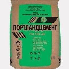 Цемент Кричевцементошифер ПЦ ЦЕМ I 42.5 Н / М500Д0 (50 кг)