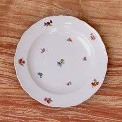 Cesky Porcelan Тарелка десертная флажная Rokoko Газенка 10009/H0009 (19см)
