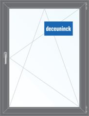 Окно ПВХ Окно ПВХ Deceuninck Фаворит Спэйс 800*1100 2К-СП, 6К-П, П/О ламинированное (серый)