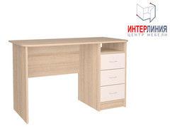 Письменный стол Интерлиния СК-001 Дуб сонома+Белый
