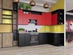 Кухня Кухня Артем-мебель Виола ДСП черный/красный