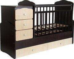 Детская кровать Кроватка Фея 2100 Венге-Клен