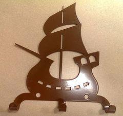 Полкодержатель, крючок Отис-сервис Крючок декоративный Кораблик (коричневый)