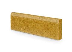 Резиновая плитка Rubtex Бордюр 1000x260 (желтый)