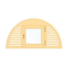 Деревянное окно Сосна слуховое, в/с, Модель 3