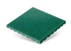 "Резиновая плитка Rubtex Плитка ""Грунт"" 500x500 (толщина 40 мм, зеленая)"