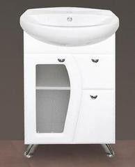 Мебель для ванной комнаты MISTY Тумба с раковиной Антик 55 (стекло)