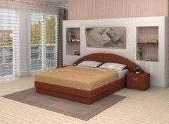 Кровать Кровать VMM Krynichka двуспальная с радиусным изголовьем (модель 37)