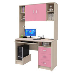 Письменный стол Смолвилль Розовый/молочный (185x120x60)