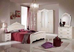 Спальня Слонимдревмебель Соната 4-д (белая, золото)
