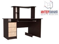 Письменный стол Интерлиния СК-003 Дуб венге+Дуб серый