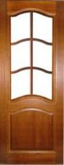 Межкомнатная дверь Межкомнатная дверь из массива Поставский мебельный центр ДО 7 Темный лак