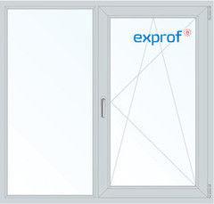 Окно ПВХ Exprof Пластиковое окно ПВХ 1300*1420 2К-СП, 6К-П, Г+П/О