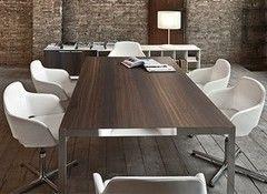 Стол офисный Sinetica Frame (Glass, Cotto) для переговоров