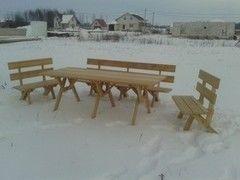 DomPlus Набор садовой мебели из лиственницы сибирской