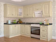Кухня Кухня Интерлиния Мила Шале угловая жемчуг текстурный (1.4x2.6)
